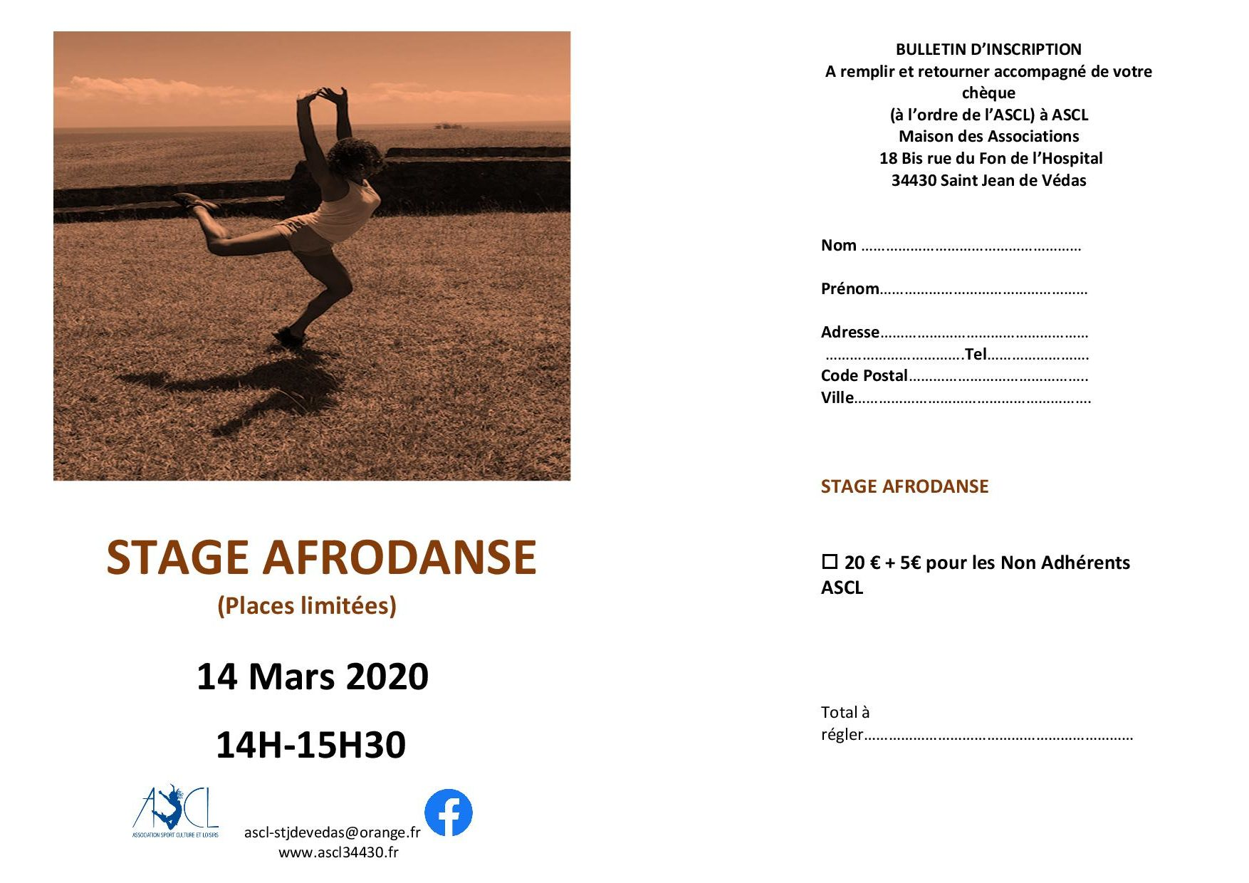 Bulletin inscription afrodanse2